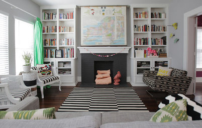10 Times This Stripy Black and White Rug Has Transformed a Room