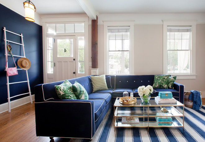 Craftsman Living Room by Margaret Wright Photography