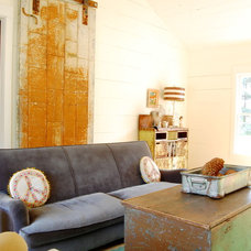 Farmhouse Living Room by Corynne Pless