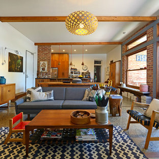 Immagine di un soggiorno moderno aperto