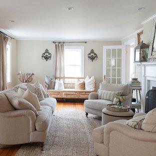 Shabby-Style Wohnzimmer in Boston