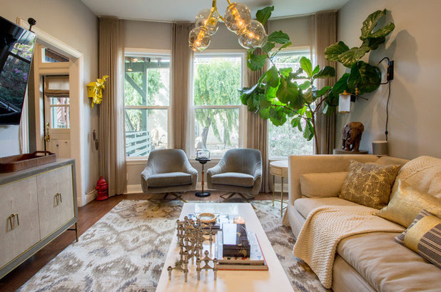 Eclectic Living Room by Le Klein