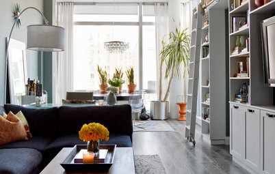 My Houzz: Colorful and Conservative Mingle in a Manhattan Apartment