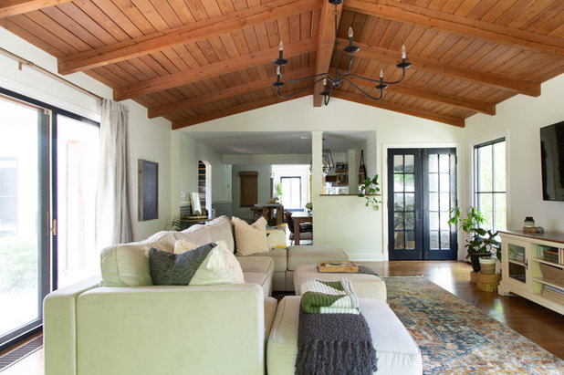 Transitional Living Room by Rachel Loewen Photography