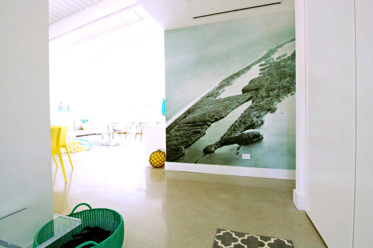 Beach Style Living Room by Mina Brinkey