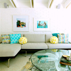 Beach Style Living Room by Mina Brinkey