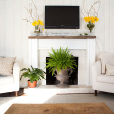 Traditional Living Room by Tess Fine