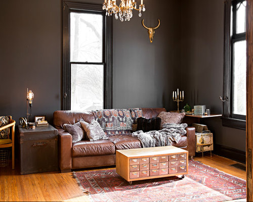 example of an eclectic living room design in nashville - Images Of Living Room Interior Design