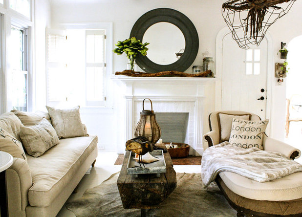 Shabby-chic Style Living Room by Mina Brinkey