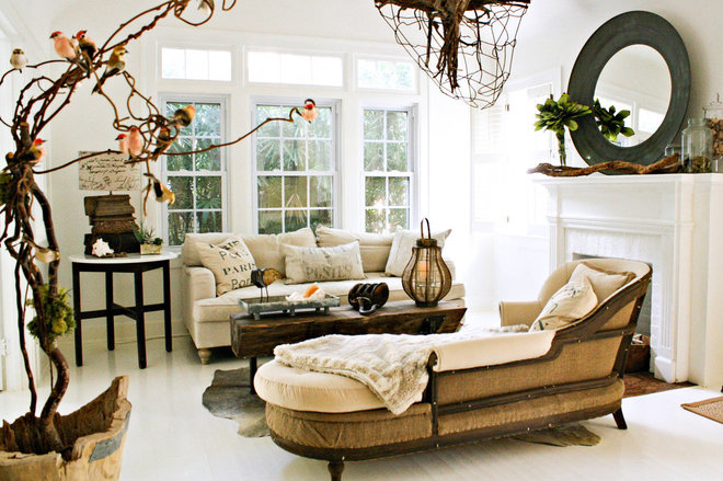 eclectic living room by Mina Brinkey