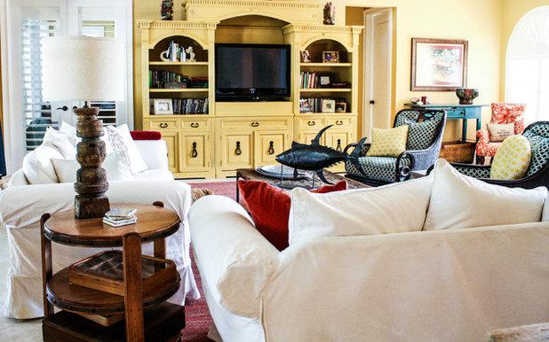 New Mediterranean Living Room by Mina Brinkey