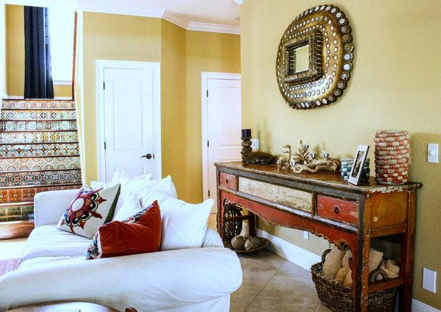 Best Mediterranean Living Room by Mina Brinkey