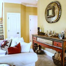 Mediterranean Living Room by Mina Brinkey