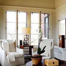 Traditional Living Room by Corynne Pless