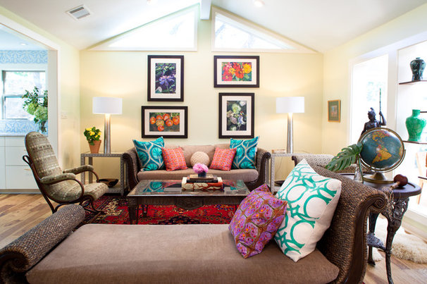 Eclectic Living Room by Amity Worrel & Co.
