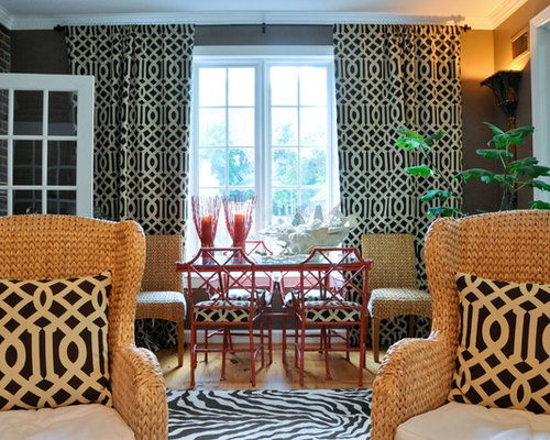 Matching curtains and pillows houzz - Living room curtains with matching pillows ...