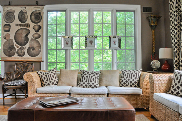 Eclectic Living Room by CM Glover