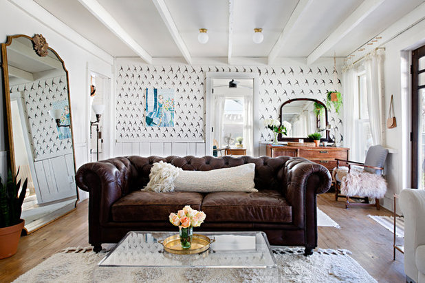Shabby-chic Style Living Room by Caroline Sharpnack
