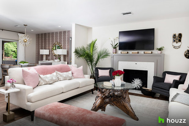 Transitional Living Room by Stephanie Gamble Interiors