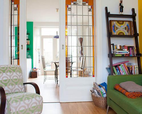 Stained glass door houzz for B q living room doors