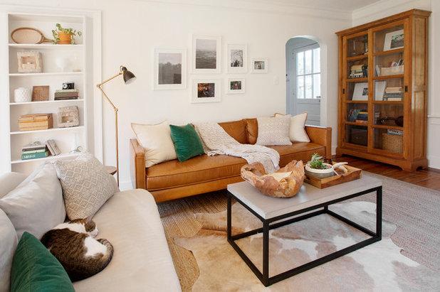 Mitte des Jahrhunderts Wohnzimmer von Margaret Wright Photography