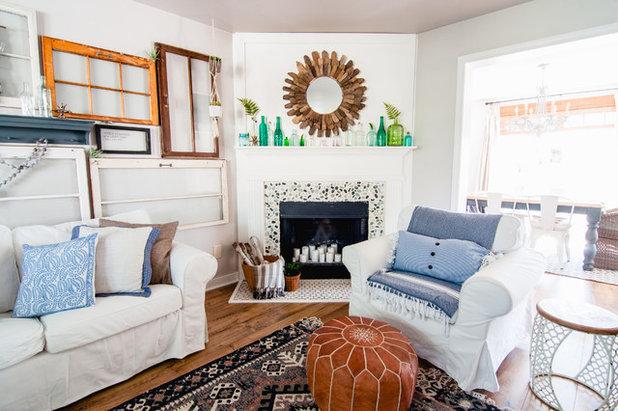 Farmhouse Living Room by Alexandra Crafton