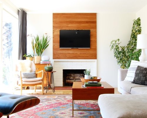 Example Of An Eclectic Living Room Design In Los AngelesEclectic Living  Room Design Ideas Remodels Photos Houzz