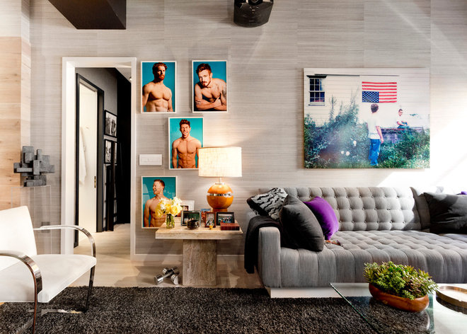 Eclectic Living Room by Rikki Snyder