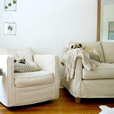 Transitional Living Room by Mina Brinkey