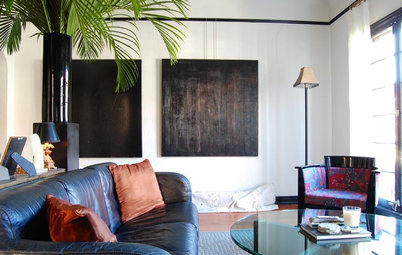 My Houzz: Black, White and Metal Shine in a 1930s Live-Work Apartment