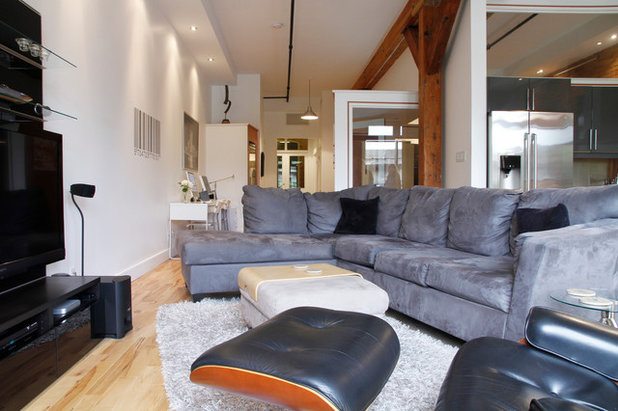 Perfect Industrial Living Room by Esther Hershcovich