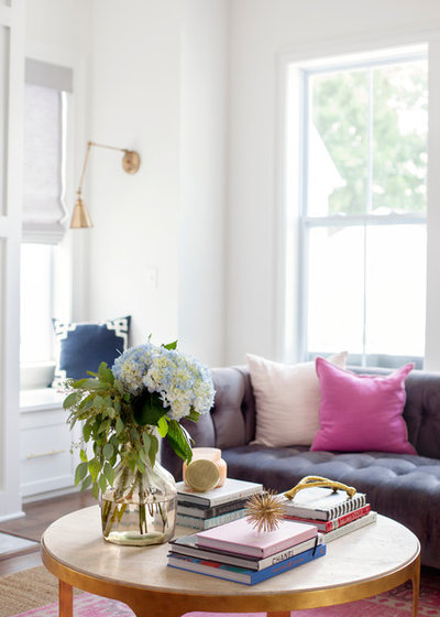 Traditional Living Room by Margaret Wright Photography