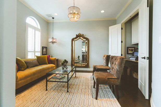 Fresh Traditional Living Room by Heather Banks
