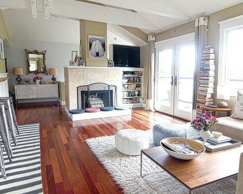 Cherry Wood Flooring Living Room Design Ideas Remodels Photos Houzz