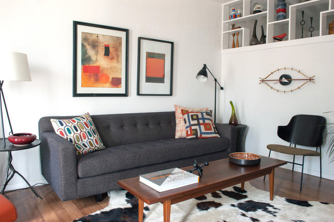midcentury living room by Angela Flournoy