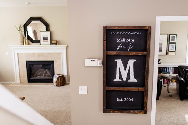 Traditional Living Room by Kaia Calhoun