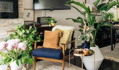 USA Houzz Tour: A Couple's Plant-Happy Home Layered With Greenery
