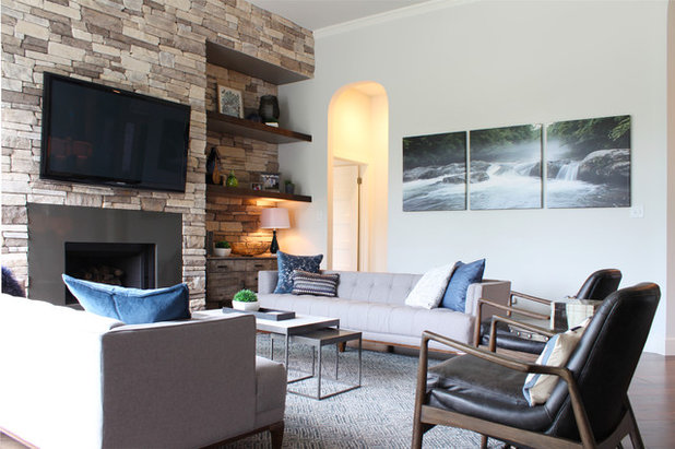 Contemporary Living Room by Kristin Laing