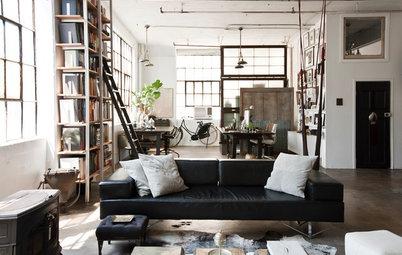 My Houzz:家は生き方を反映する――アーティストが暮らすインダストリアルなロフト
