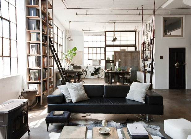 Industrial Living Room by Chris A Dorsey Photography