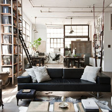 Industrial Living Room by Chris A. Dorsey Photography