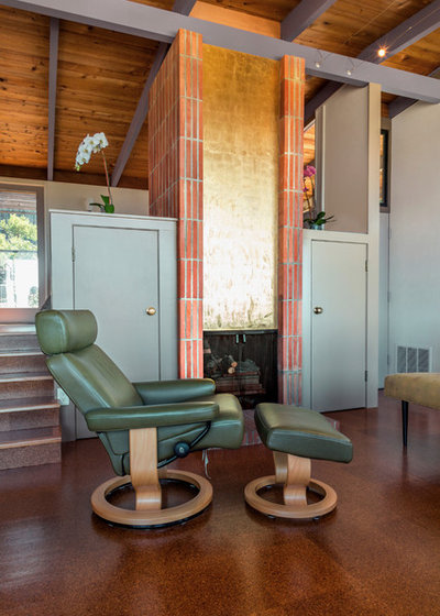 Midcentury Living Room by Margot Hartford Photography