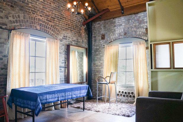 Industrial Living Room by STRUKTR Studios Photography