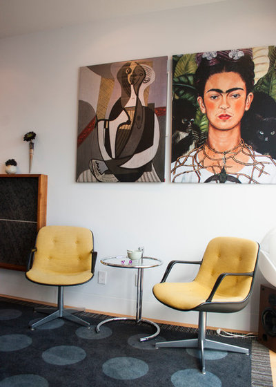 gro e kunst wohnen als hommage an frida kahlo. Black Bedroom Furniture Sets. Home Design Ideas