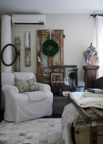 Eclectic Living Room by Esther Hershcovich
