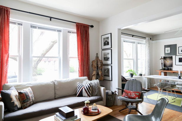 Eclectic Living Room by Rachel Loewen Photography