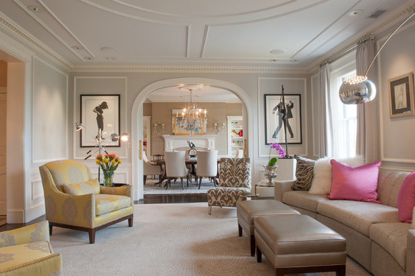 Contemporary Living Room by Mary Prince Photography