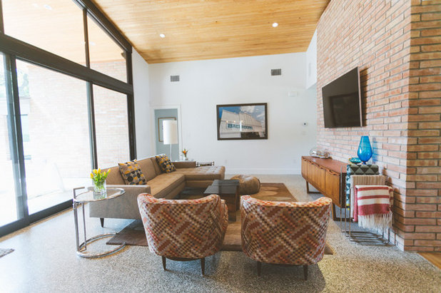 Midcentury Living Room by Heather Banks