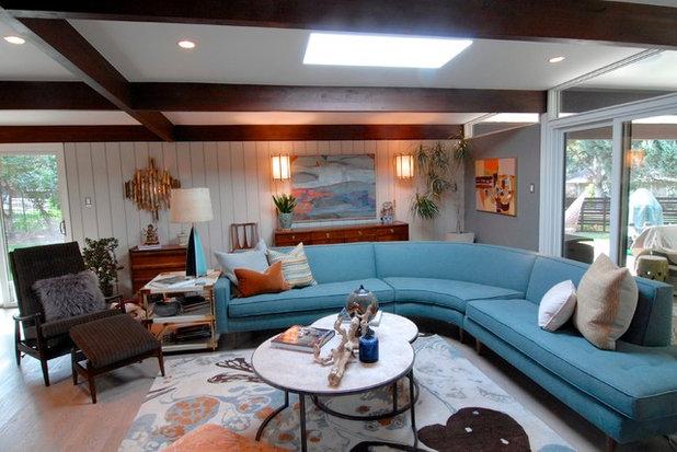 Midcentury Living Room by Brenda Olde