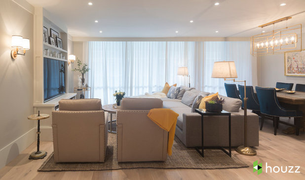 Transitional Living Room by Breeze Giannasio Interiors